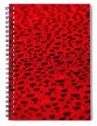 Red Water Drops On Water-repellent Surface Spiral Notebook