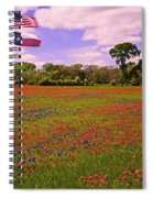 Red White And Beautiful Spiral Notebook