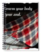 Red White And Blue Quilt With Quote Spiral Notebook