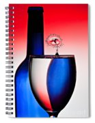 Red White And Blue Reflections And Refractions Spiral Notebook