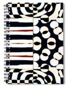 Red White Black Number 1 Spiral Notebook