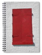 Red Window Spiral Notebook