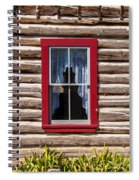 Red Window Log Cabin - Idaho Spiral Notebook