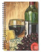 Red Wine And Cheese Spiral Notebook
