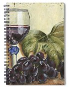 Red Wine And Grape Leaf Spiral Notebook