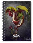 Red Wine Dragon Spiral Notebook