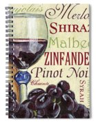 Red Wine Text Spiral Notebook