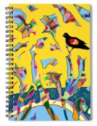 Redwing Blackbird Sunrise Spiral Notebook