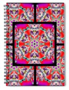 Red Winter Solstice Page Spiral Notebook