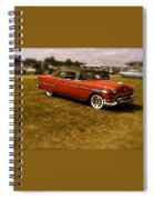 Red With Black Soft Top Spiral Notebook