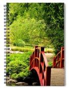 Red Wooden Bridge Spiral Notebook