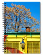 Red Yellow And Blue Building Spiral Notebook