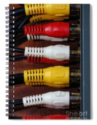 Red Yellow And White Cables Spiral Notebook