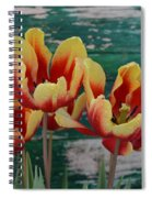 Red Yellow Tulips Spiral Notebook