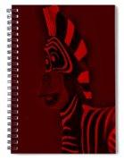 Red Zebra Spiral Notebook
