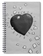Redheart In Black And White2 Spiral Notebook