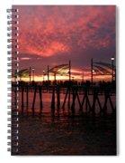Redondo Beach Pier At Sunset Spiral Notebook