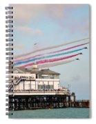 Reds Over Eastbourne Pier Spiral Notebook