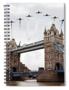 Reds Over Tower Bridge Spiral Notebook