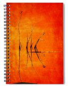 Reeds And Reflection In Orange Spiral Notebook