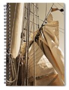 Reefing The Mainsail In Sepia Spiral Notebook