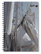 Reefing The Mainsail Spiral Notebook