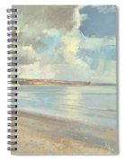 Reflected Clouds Oxwich Beach Spiral Notebook