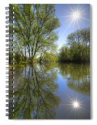 Reflected Star Spiral Notebook