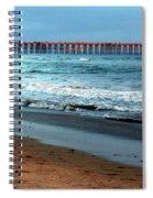 Reflected Sunlight At Pier's End Spiral Notebook