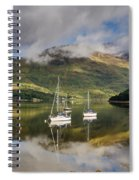 Reflected Yachts In Loch Leven Spiral Notebook