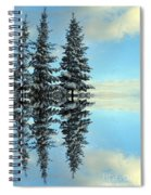 Reflecting Evergreens In Winter Spiral Notebook