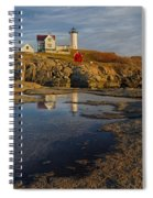 Reflecting On Nubble Lighthouse Spiral Notebook