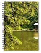 Reflecting On The Beauty Of The Woodlands Spiral Notebook