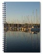 Reflecting On Yachts And Sailboats Spiral Notebook