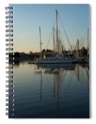 Reflecting On Yachts - Hot Summer Afternoon Mirror Spiral Notebook