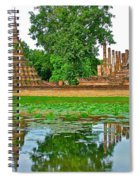 Reflecting Pool At Wat Mahathat In 13th Century Sukhothai Historical Park-thailand Spiral Notebook