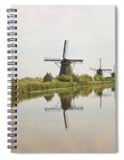 Reflecting Windmills Spiral Notebook
