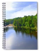 Reflection In Beaupre Quebec Spiral Notebook