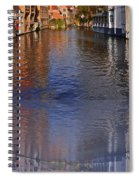Reflection In Canal Spiral Notebook