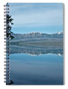 Reflection In Lake Mcdonald In Glacier National Park-montana Spiral Notebook