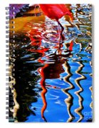 Reflection Of A Flamingo 1 Spiral Notebook