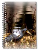 Reflection Of A Heron Spiral Notebook