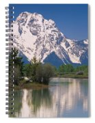 Reflection Of A Mountain Range Spiral Notebook