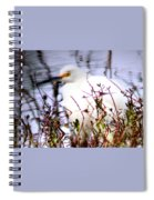 Reflection Of A Snowy Egret Spiral Notebook