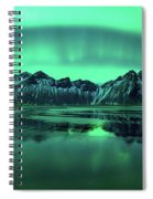 Reflection Of Aurora Borealis Spiral Notebook