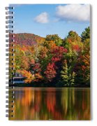 Reflection Of Autumn Trees In A Pond Spiral Notebook