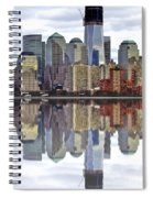 Reflection Of Downtown Nyc Spiral Notebook