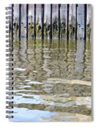 Reflection Of Fence  Spiral Notebook