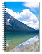 Reflection Of Glaciers And Clouds In Emerald Lake In Yoho National Park-british Columbia-canada Spiral Notebook