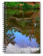 Reflection Of House On Water Spiral Notebook